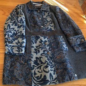 Joe Browns Multi pattern jacket coat size 20